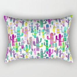 Watercolor Cacti - Pinks - Saguaros Rectangular Pillow