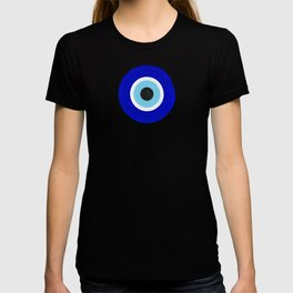 Evil Eye Charms on White T-shirt