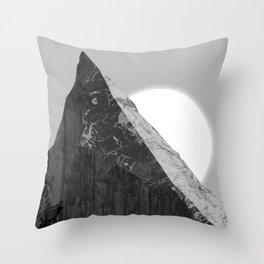 Razor-sharp peak Throw Pillow