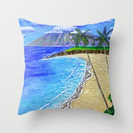 Sea Painting Throw Pillow