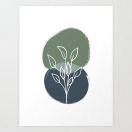 Abstract Botanical Print Art Print