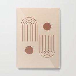 Minimal Geometric 72 Metal Print