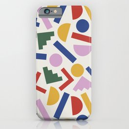 Colorful Geometric Shapes iPhone Case