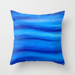 Marine abstract Throw Pillow