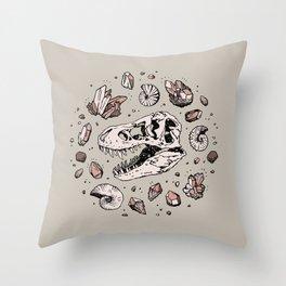 Geo-rex Vortex | Rose Quartz Throw Pillow