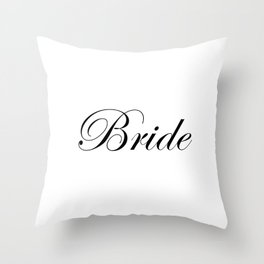 Bride - white Throw Pillow