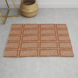 dotty boho geometric - ginger Rug
