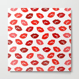 Red lips Metal Print