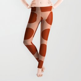 Irregular Polka Dots terracota Leggings