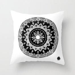 Elilia Silver Fern Mandala Throw Pillow