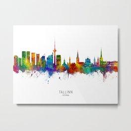 Tallinn Estonia Skyline Metal Print