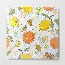 orange lemon Metal Print