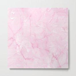 Rose Petal Quartz Metal Print