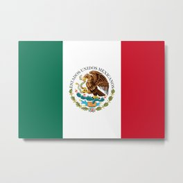 Flag of Mexico - alt version with seal insert Metal Print