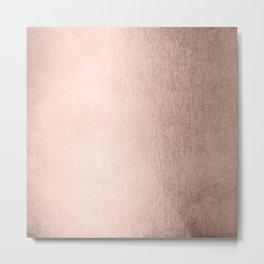 Moon Dust Rose Gold Metal Print