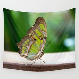 Malachite Butterfly Profile Wall Tapestry