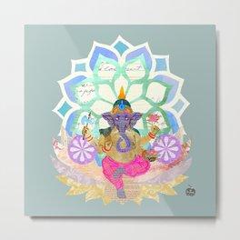 Lord Ganesh in Lotus throne Metal Print