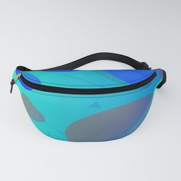 Purple Blue And Green Abstract Design Fanny Pack