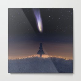 The encounter of Neowise and Alice Metal Print