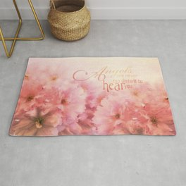 Pink Cherry Blossom for Angels Rug