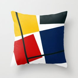 Simultaneous Counter Composition (High Resolution) Throw Pillow