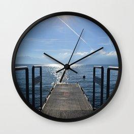 Dock to Heaven Wall Clock
