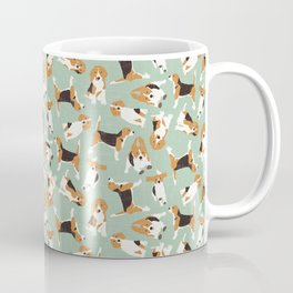beagle scatter mint Kaffeebecher