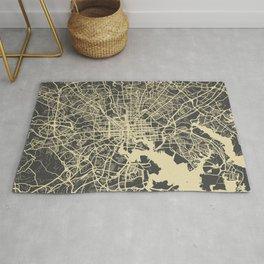 Baltimore map yellow Rug