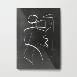 Abstract line art 6/2 Metal Print