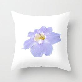 Blue skyflower Throw Pillow