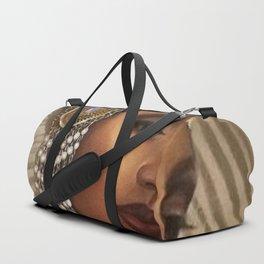 African American Masterpiece 'Cotton Club Flapper Dance Girl' Portrait Painting Duffle Bag