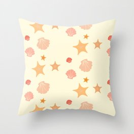 Shell and Star Throw Pillow