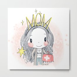 Fairy Mom Metal Print