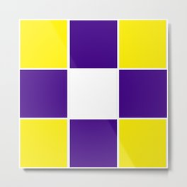 Team Colors 3...purple ,yellow Metal Print