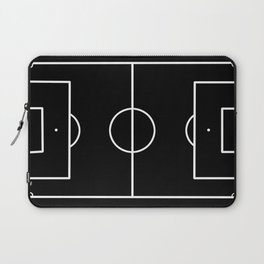 Soccer field / Football field in Black and White Laptop Sleeve