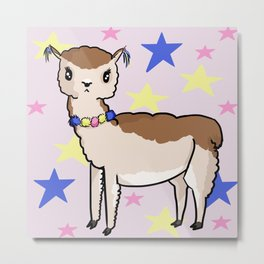 It's A Good Day For Alpacas Metal Print