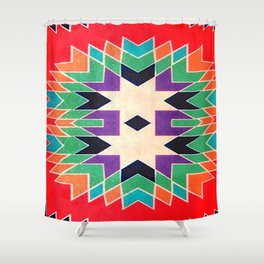 Fashion Icon Aztec Remix Pattern 4 Shower Curtain