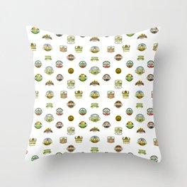 FARM LOGOS Throw Pillow