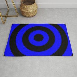 Target (Black & Blue Pattern) Rug
