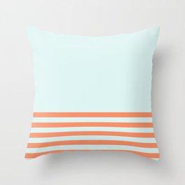 Beach Stripes Throw Pillow