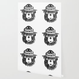 Smokey Bear Distressed Logo Wallpaper