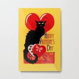 Le Chat Noir Valentine Metal Print