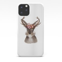 Floral Jackalope iPhone Case