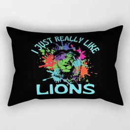 I Just Really Like Lions Rectangular Pillow