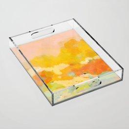abstract spring sun Acrylic Tray