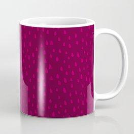Raspberry Paint Drops Kaffeebecher