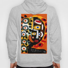 African Woman is dreaming in the sunrise Hoody