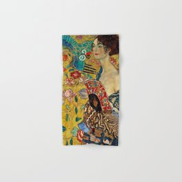 Gustav Klimt Lady With Fan Hand & Bath Towel
