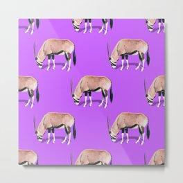 Wildebeest Pattern Metal Print