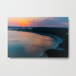 Sunset at Lake Travis Metal Print